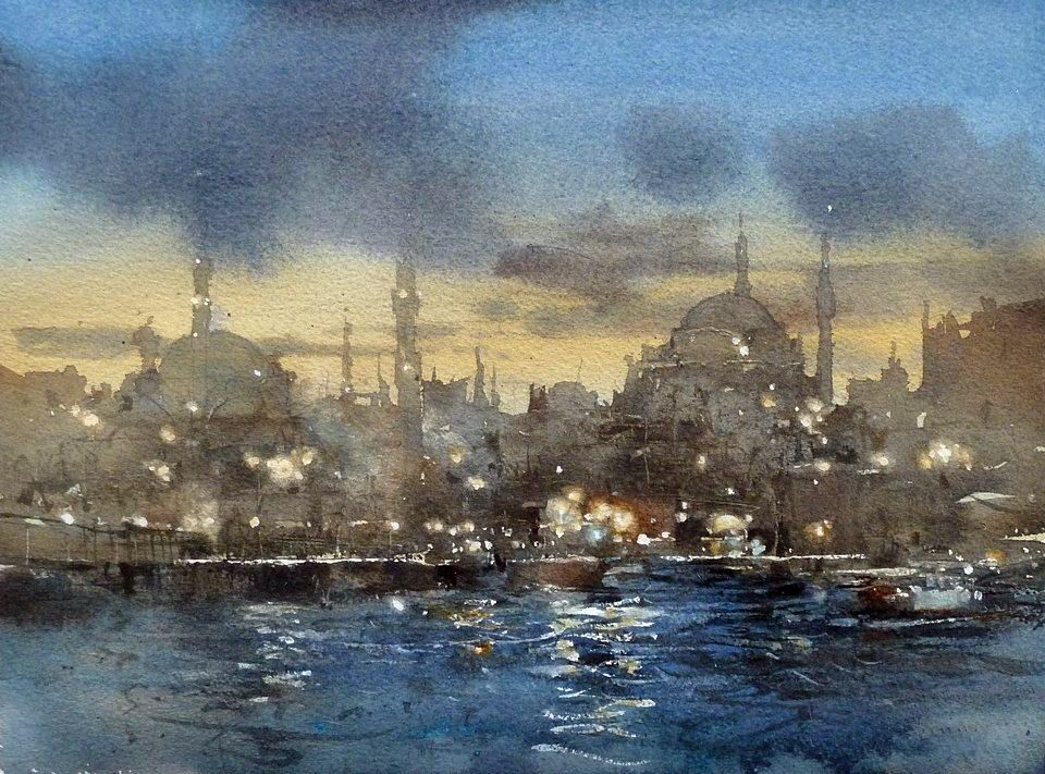 Chien Chung Wei S Watercolor Demo At Workshop In Istanbul Avec