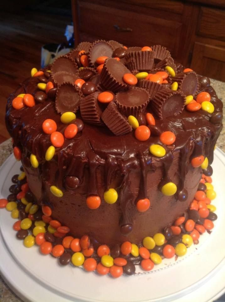 Pre Teen Boy S Birthday Cake Peanut Butter And Reece S