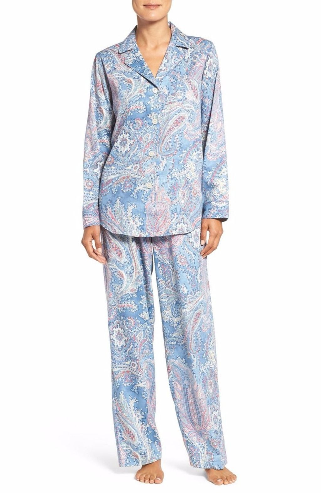 ac0d53029a LAUREN RALPH LAUREN PRINT PAJAMAS BLUE PAISLEY  59 - PICK UP OR SHIPS FREE  WORLDWIDE! BET PRICE GUARANTEE - MAJOR CREDIT CARDS ACCEPTED - SHOP OUR SSL  ...