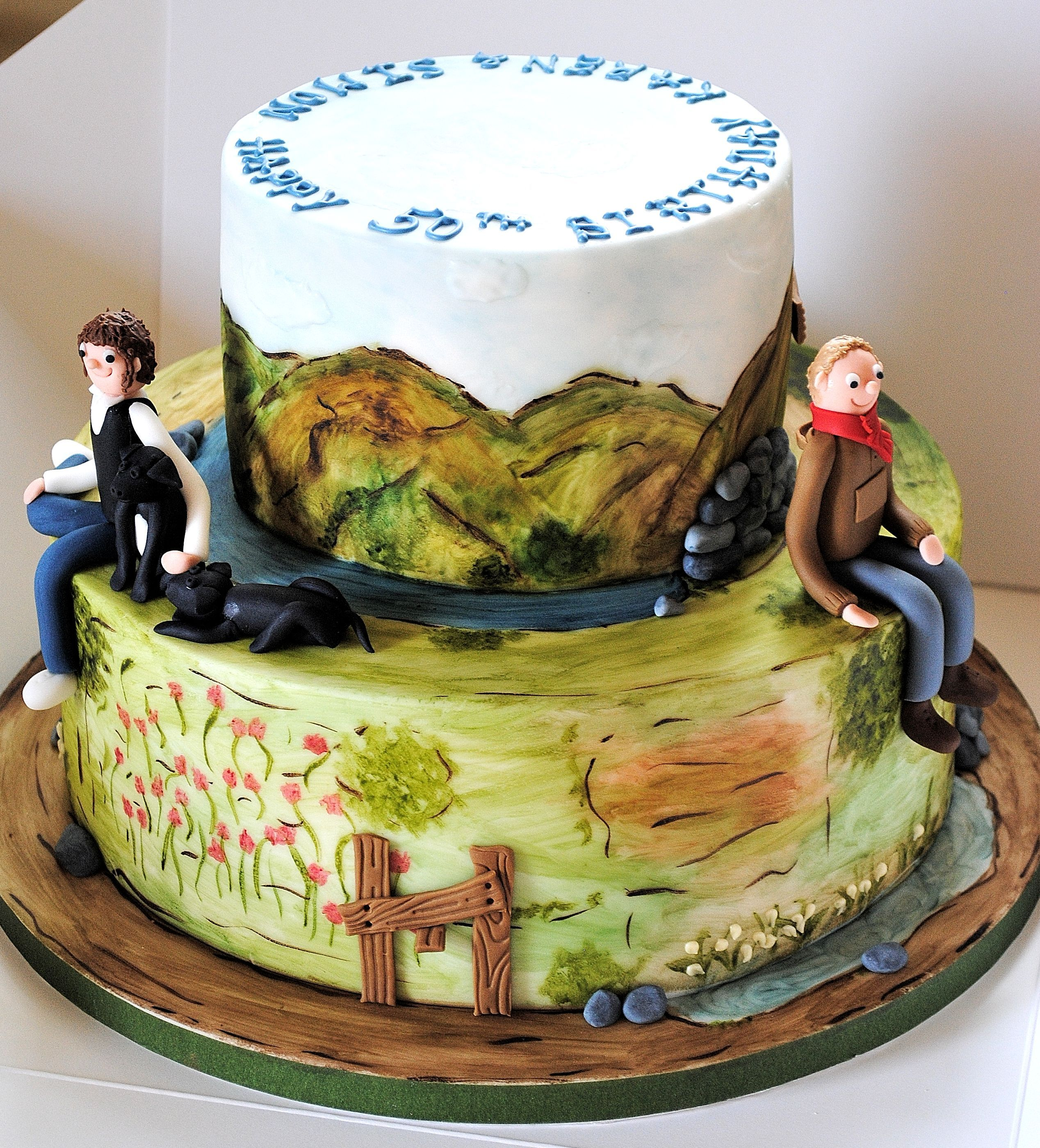 Hiking Cake: Lake District Walking/hiking Birthday Cake From Www