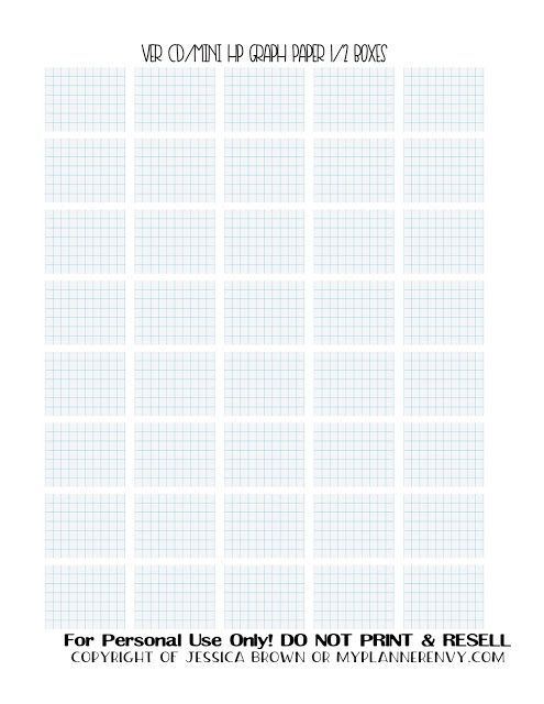 free printable graph paper half boxes for the vertical