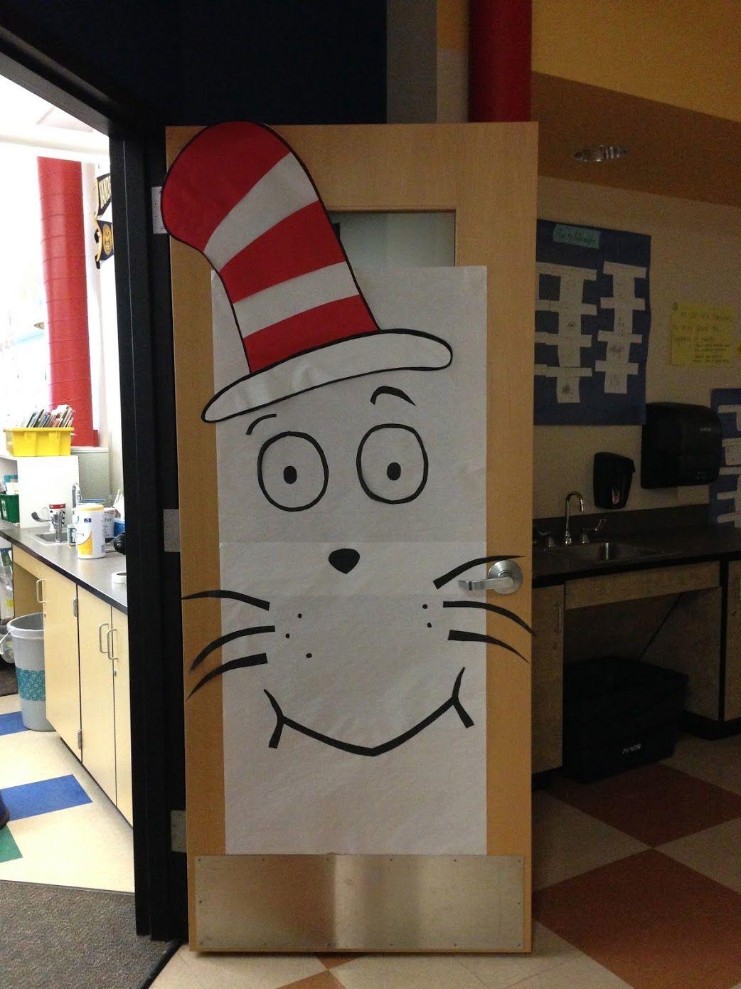 Dr. Suess Cat in the Hat Classroom Door | Classroom Door ...