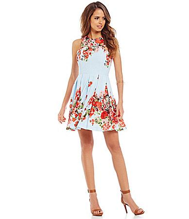 6152de4683c Gianni Bini Marcy Floral Bouquet Aline Dress  Dillards