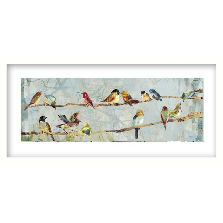Buy Multi Coloured Birds Framed Picture