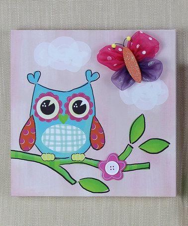 Look what I found on #zulily! Single Owl Wall Art #zulilyfinds