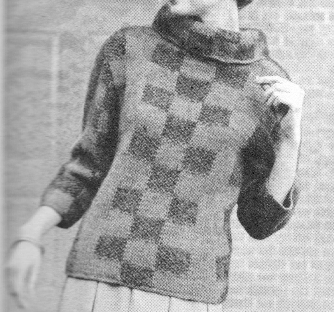 147 pdf pullover sweater knitting pattern checkered sweater pattern 147 pdf pullover sweater knitting pattern checkered sweater pattern ladies sweater womens size 12 14 16 vintage 1960s pdf download dt1010fo