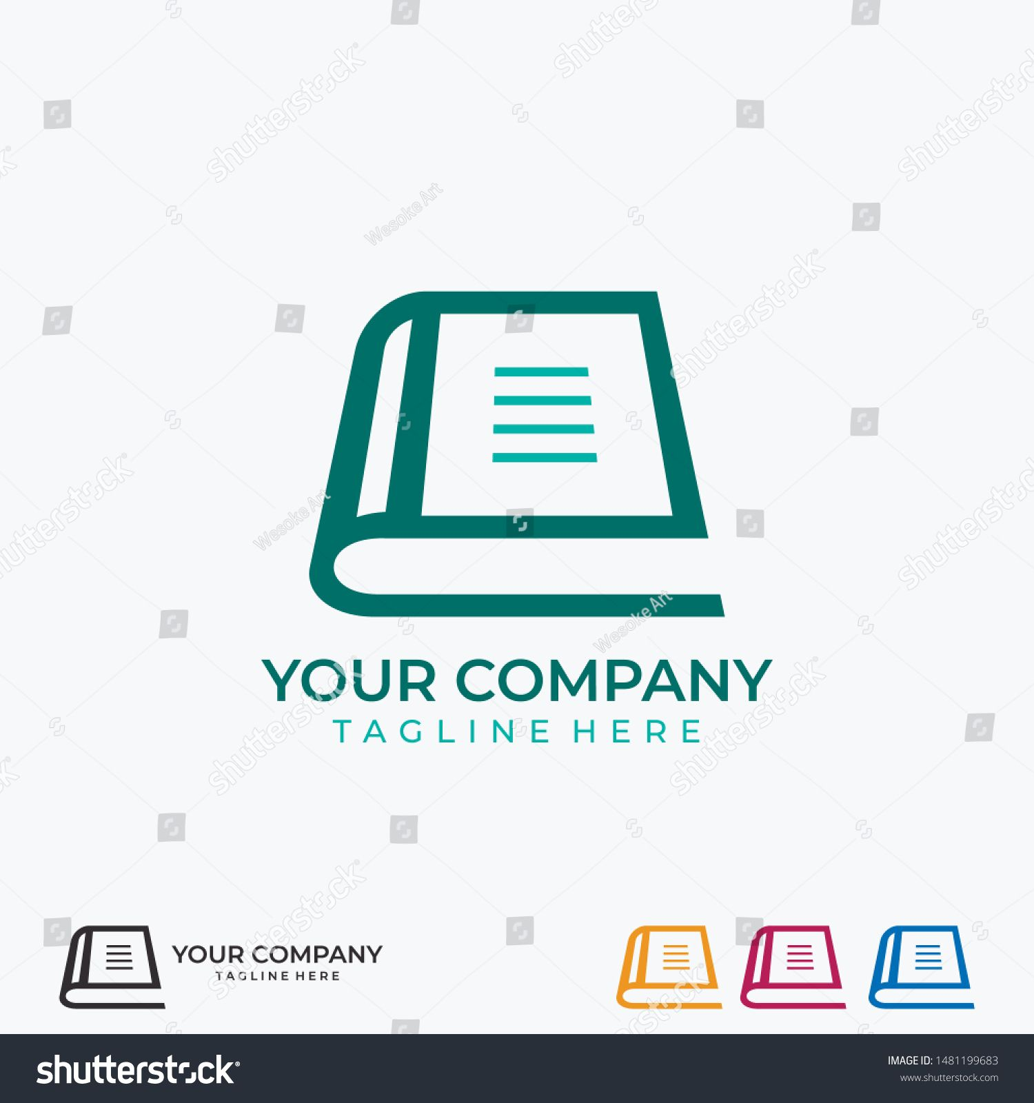 Learning Education Book Shop Store Vector Logo Design Template