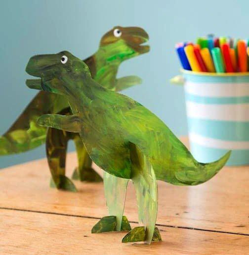 Maquette dinosaure carton enfants color - Modele dessin dinosaure ...