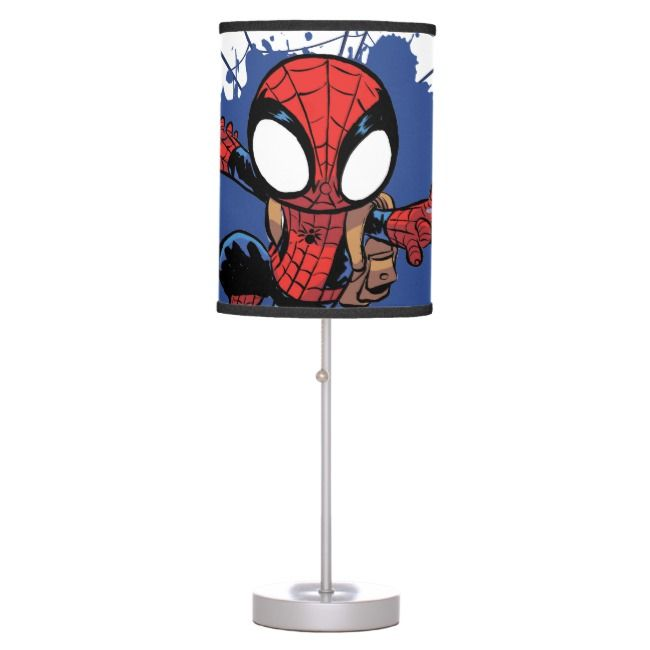 Spider Man Chibi Spider Man Web Swinging Table Lamp Zazzle Com Spiderman Drawing Chibi Coloring Pages Chibi