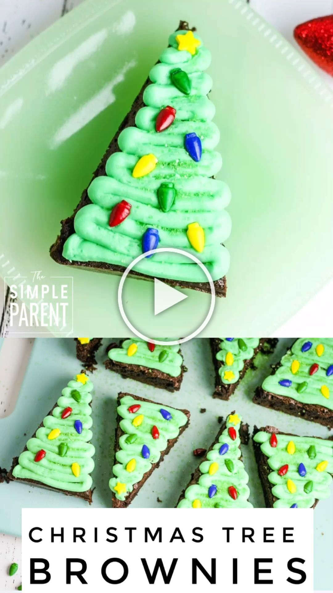 These easy Christmas Tree Brownies are perfect for holiday parties and to make with kids!