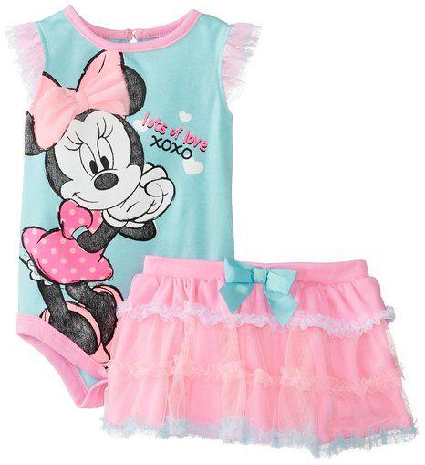 d6b1678cec4c Disney Baby Baby-Girls Newborn Aruba Blue Minnie Mouse Tutu Skirt ...