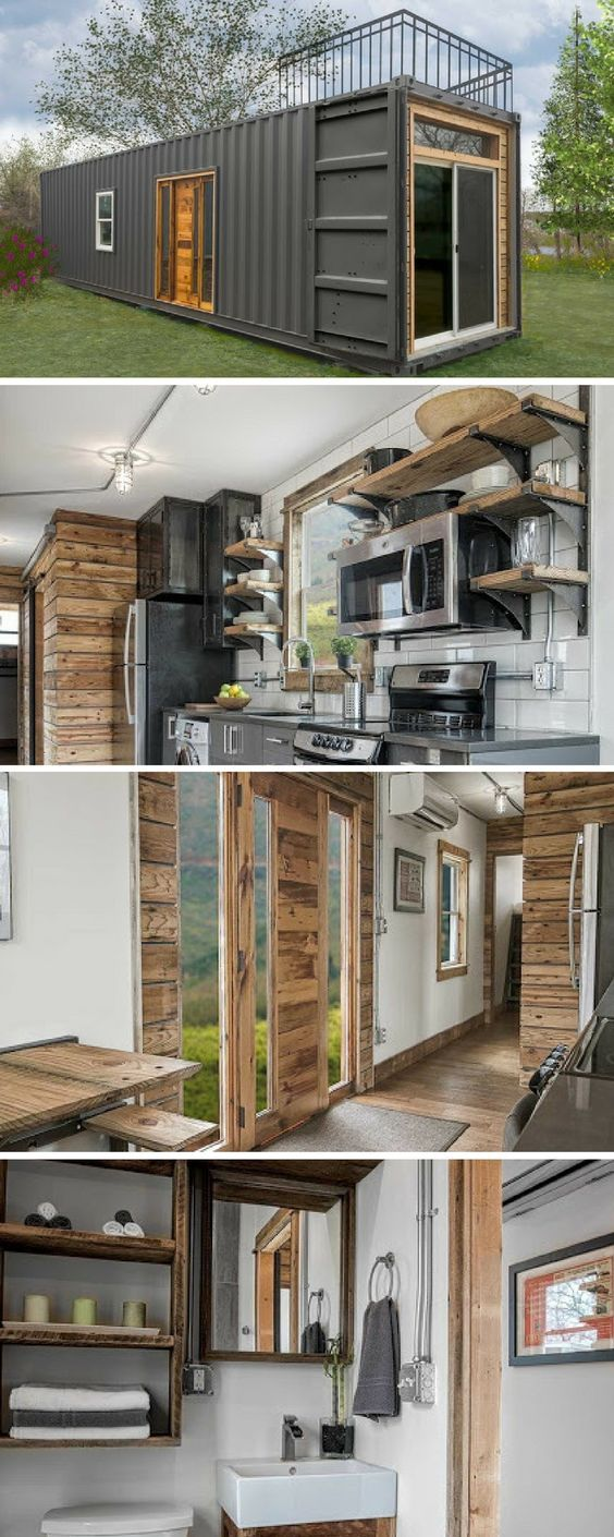 Tiny Home Designs: Industrial/rustic Container 1b/1b Tiny Home.