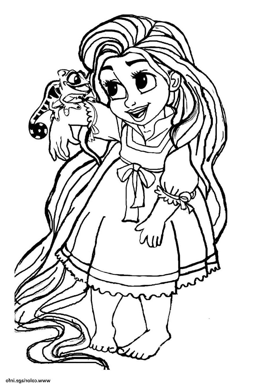 Coloriage Bebe Raiponce Princesse Disney Cute dessin  Rapunzel