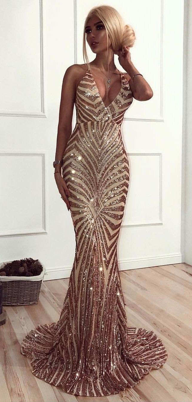 Winter outfits brown and beige sleeveless bodycon mermaid dress