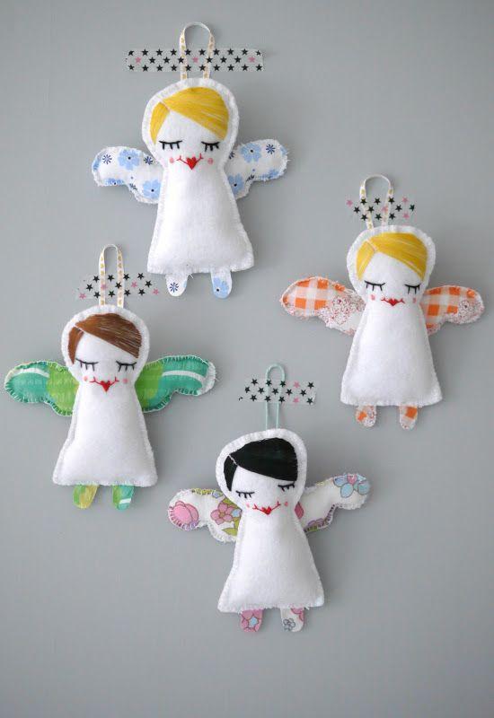 handmade christmas angels: mellaogmalla: Engler på Epla