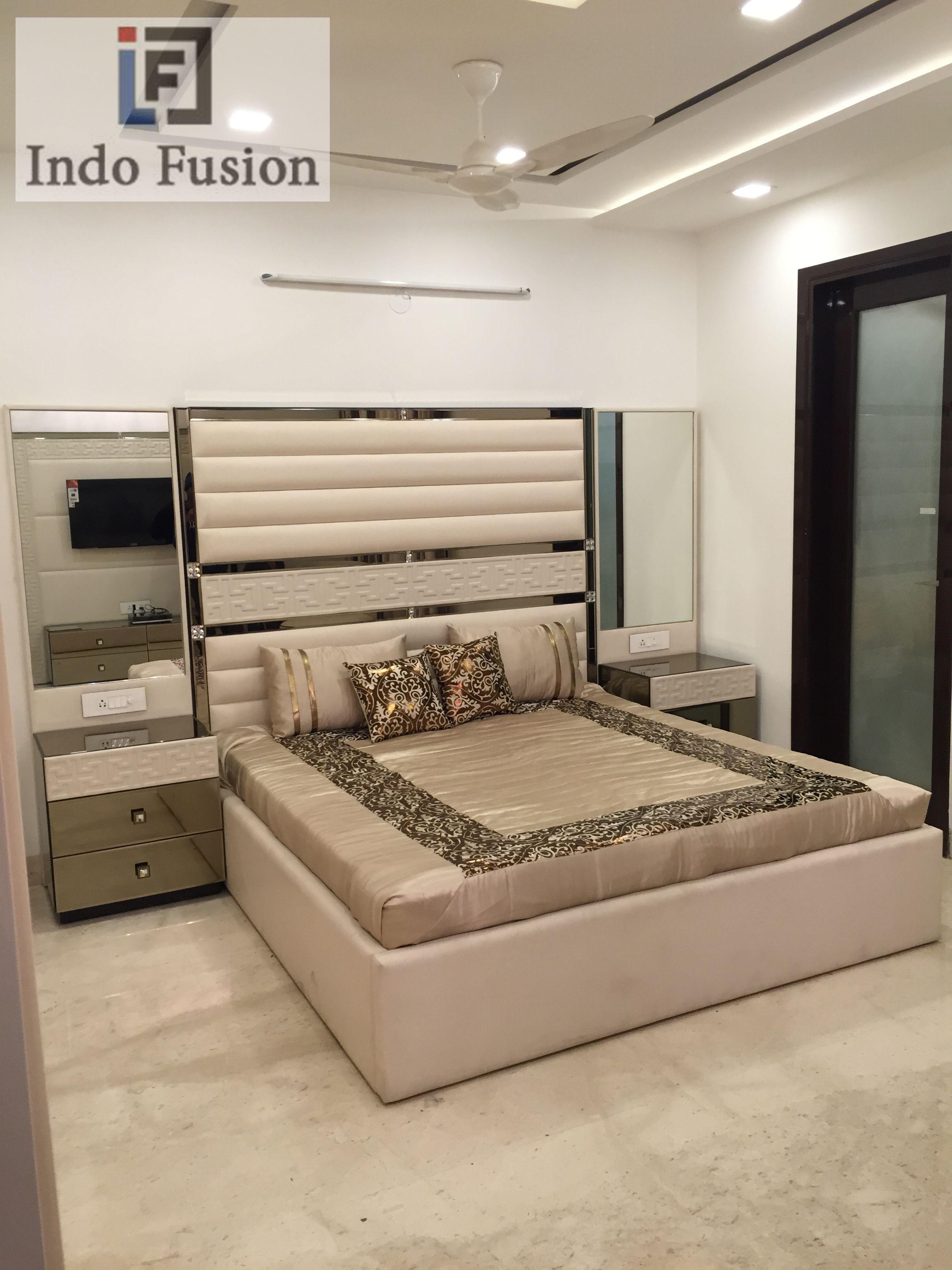 Designer Bed Design By Indo Fusion Interiors