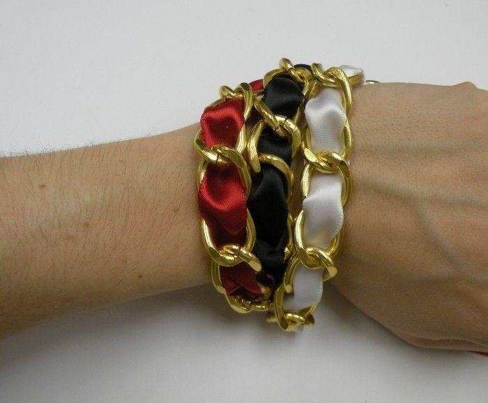 Ribbon Chain Bracelets