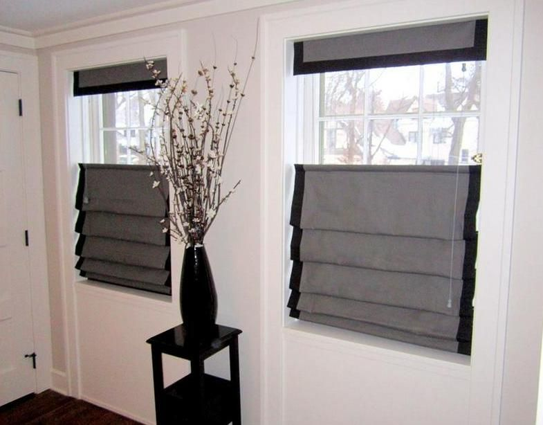 Top Down Bottom Up Roman Shades Installed By Budget Blinds