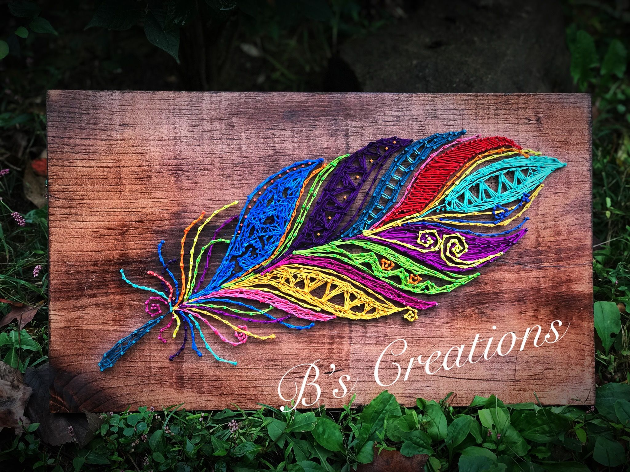 Feather string art !! - String Art | Pinterest - Draadkunst ...