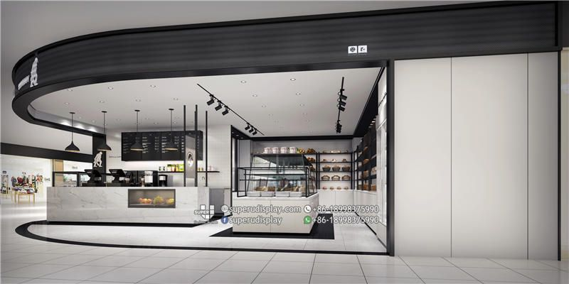 Gongbuy Bakery Shop Interior Design Bubble Tea Display With