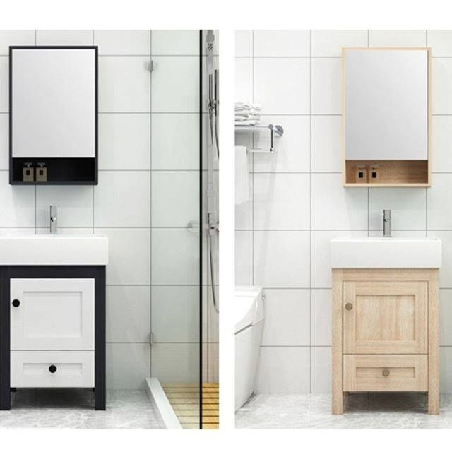 Small Size Bathroom Vanity Cabinet With Medicine Cabinet In 2020 Vanity Cabinet Bathroom Vanity Bathroom Vanity Cabinets