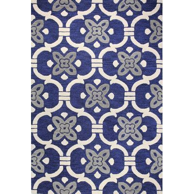 The Conestoga Trading Co. Hand-Tufted Navy Area Rug Rug Size: