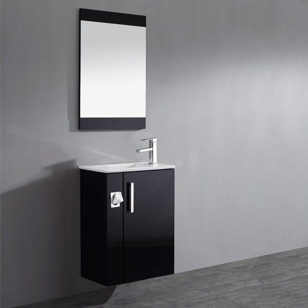 SD960N Meuble salle de bain noir - salle de bain meuble noir