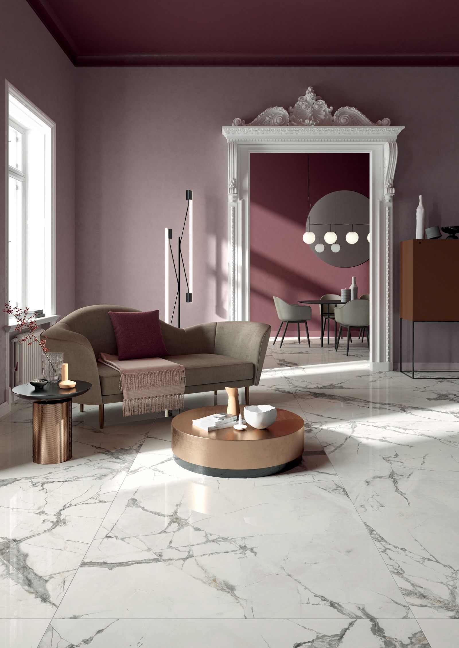 Tiles Design For Living Room Wall: Sensi Up Invisible Pearl Floor & Wall Tiles
