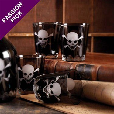 Skellington Skull and Crossbones Double Old Fashioned Glass on Wanelo
