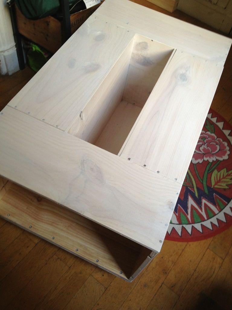 table basse diy caisses vin id es pour la maison pinterest. Black Bedroom Furniture Sets. Home Design Ideas