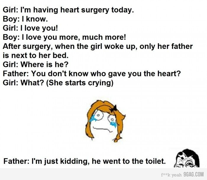 Love Story Heart Surgery Funny Daddy Laughing So Hard Funny Quotes