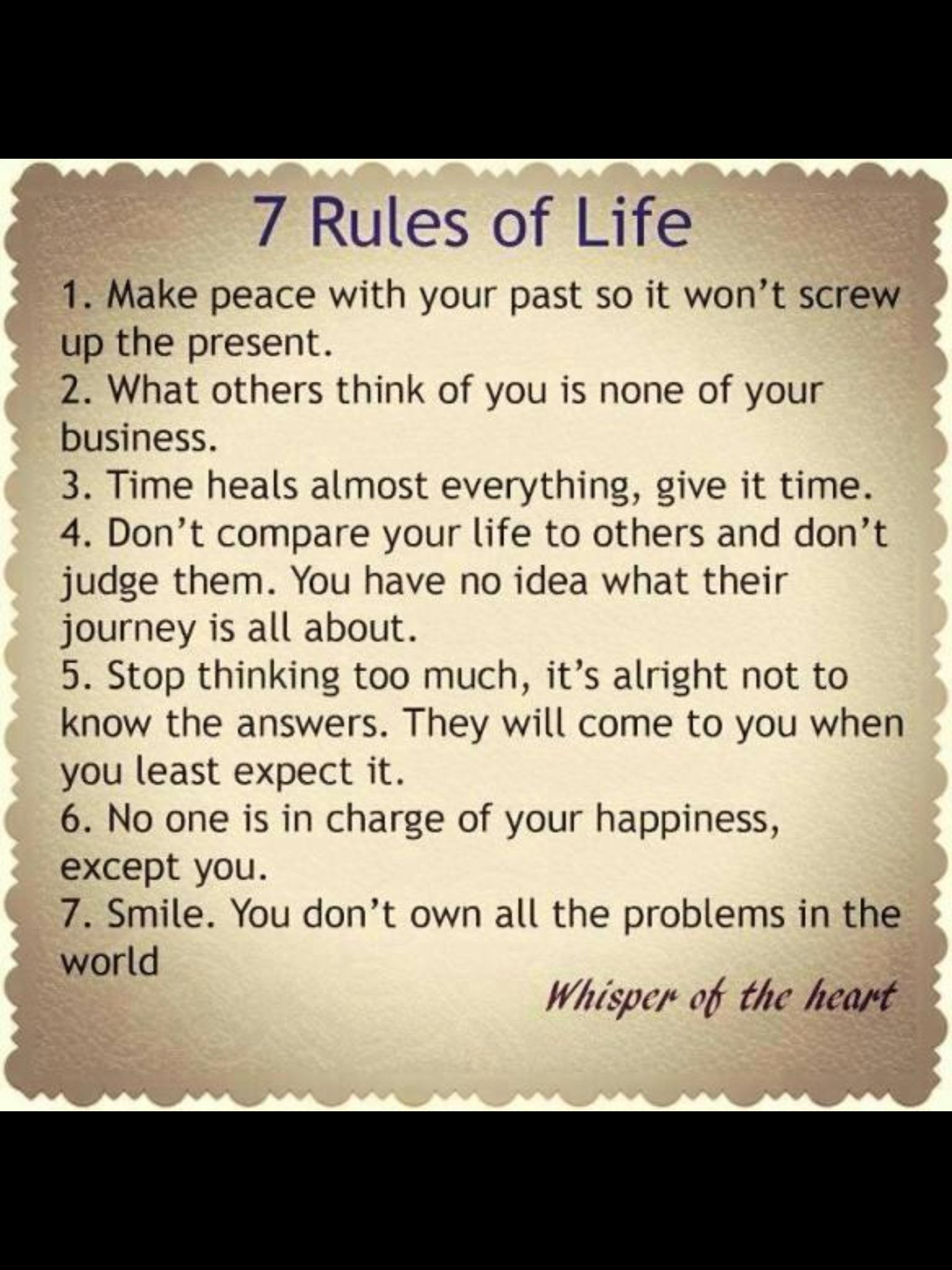 7 Rules Of Life Quote 7Smile  Life Is Simple Don't Complicate It  Pinterest