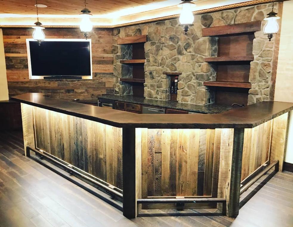 Bars Basements Reclaim Renew Rustic Basement Bar Diy Home Bar Home Bar Designs