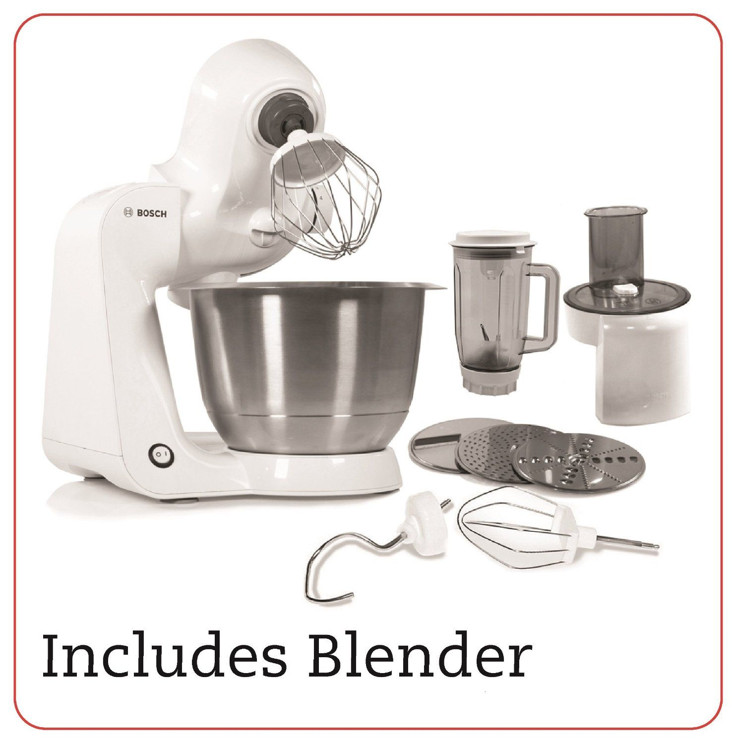 Bosch styline stand mixer with continuous shredder and