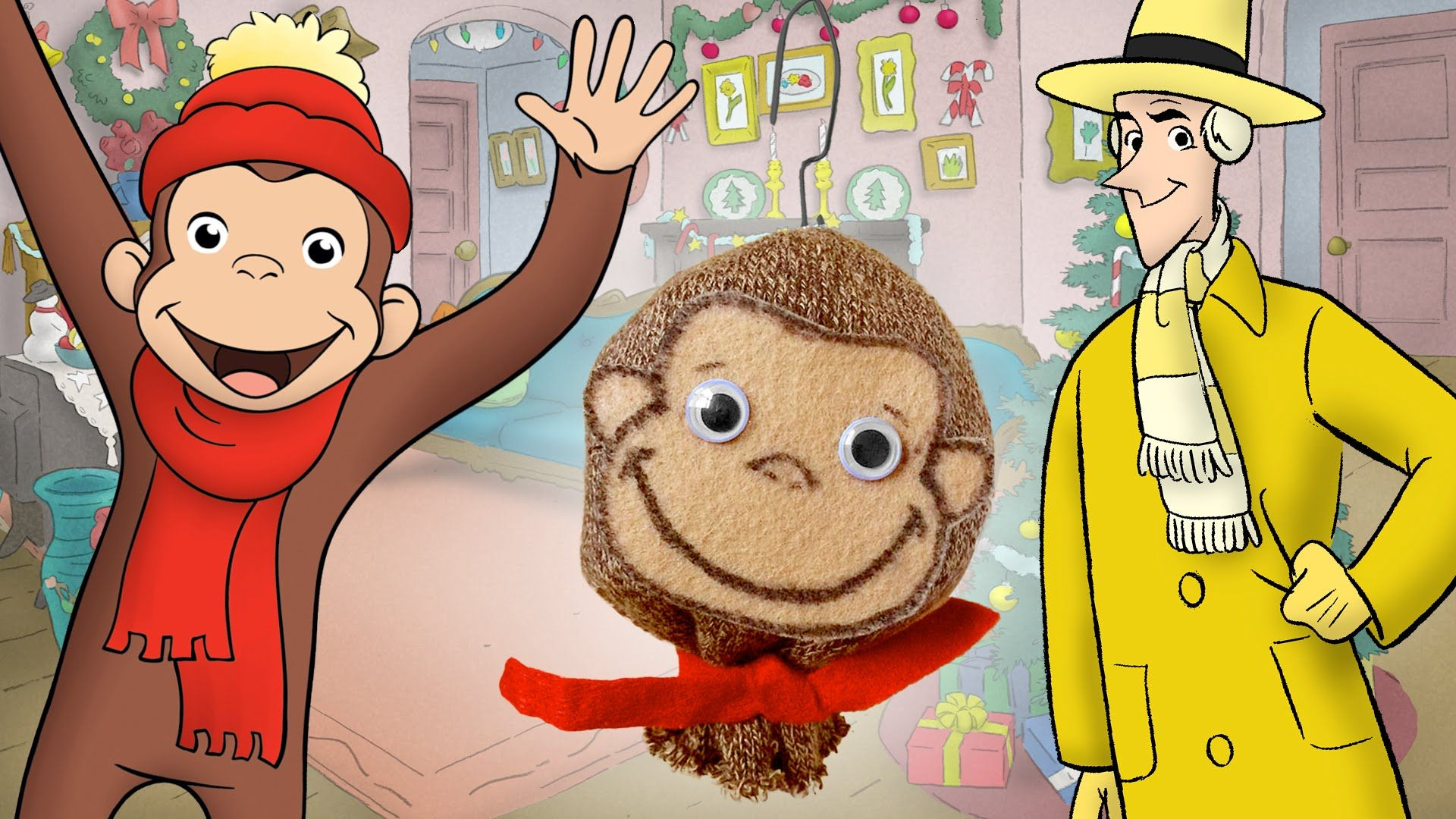 Curious George Inspired Sock Monkey Craft
