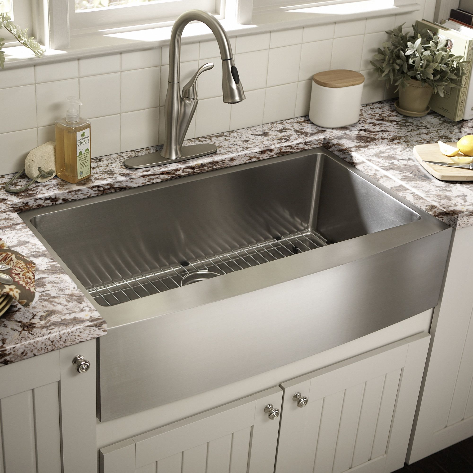 You Ll Love The 22 Single Bowl Farmhouse Kitchen Sink At Wayfair Great Deals On All Kitchen Farmhouse Sink Kitchen Kitchen Sink Decor Sinks Kitchen Stainless