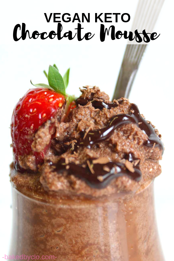 This vegan keto chocolate mousse recipe is healthy and made from just 3 ingredients! This perfect pudding is also gluten-free, refined-sugar free, dairy free and egg-free.