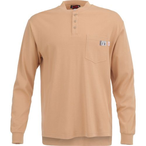 8ba8dc9ac74 Wolverine Men s Flame Resistant Long Sleeve Henley (Beige Or Khaki