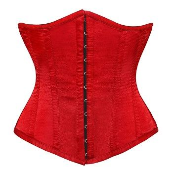 red under bust corset to dress up any outfit and add a