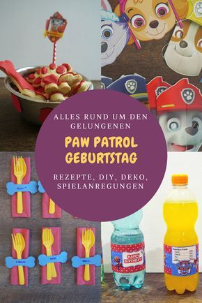 Paw Patrol Geburtstag - Deko, Essen, Getränke & Spiele | Paw patrol