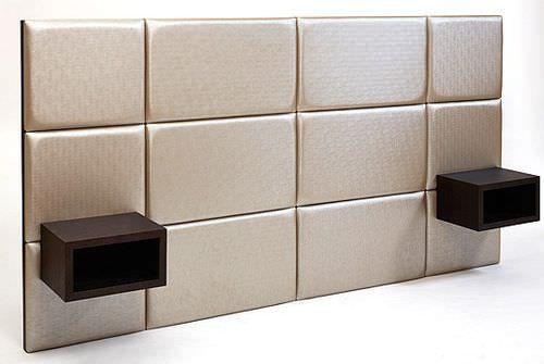 t te de lit contemporaine avec table de chevet int gr e poitoux t tes de lit pinterest. Black Bedroom Furniture Sets. Home Design Ideas