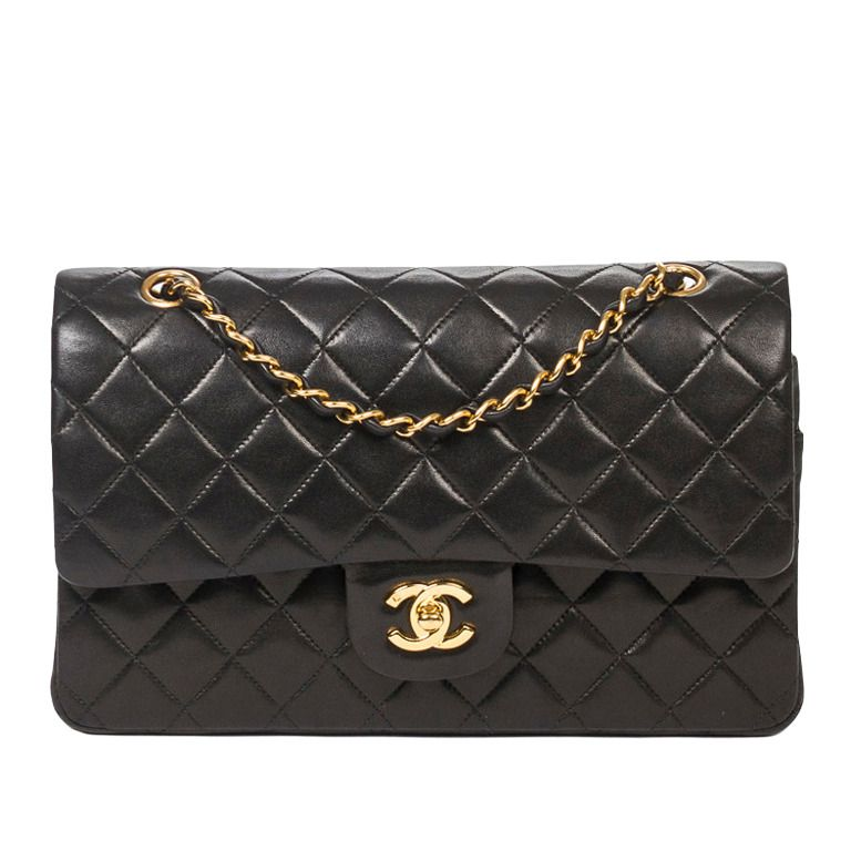 90db96f59ad8 Black Patent Leather · Classic Chanel Timeless | From a collection of rare  vintage handbags and purses at https: