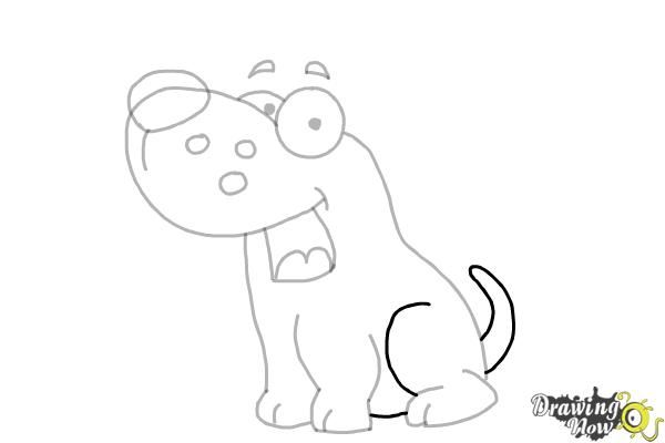 How to Draw a Cute Puppy - Step 7