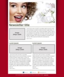 free beauty salon newsletter templates makeup studio pinterest