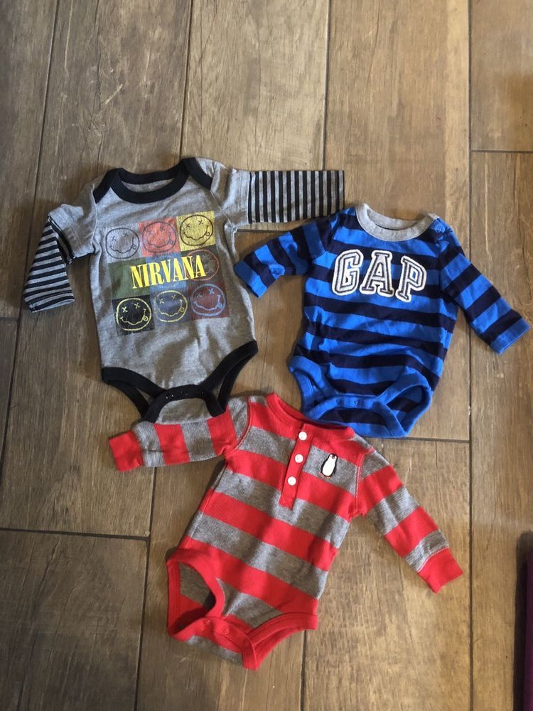 a69ffe46dfef Lot Of 3 Infant Boys Name Brand Tops Size 0-3 Months  fashion ...