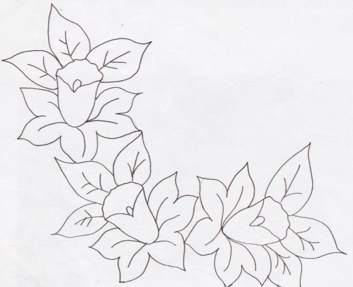 risco de orquideas para pintar | pintura em tecido | Pinterest ...