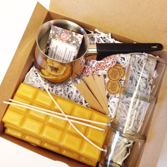 4  Gift for Sister: DIY - Beeswax Candle Making Kit