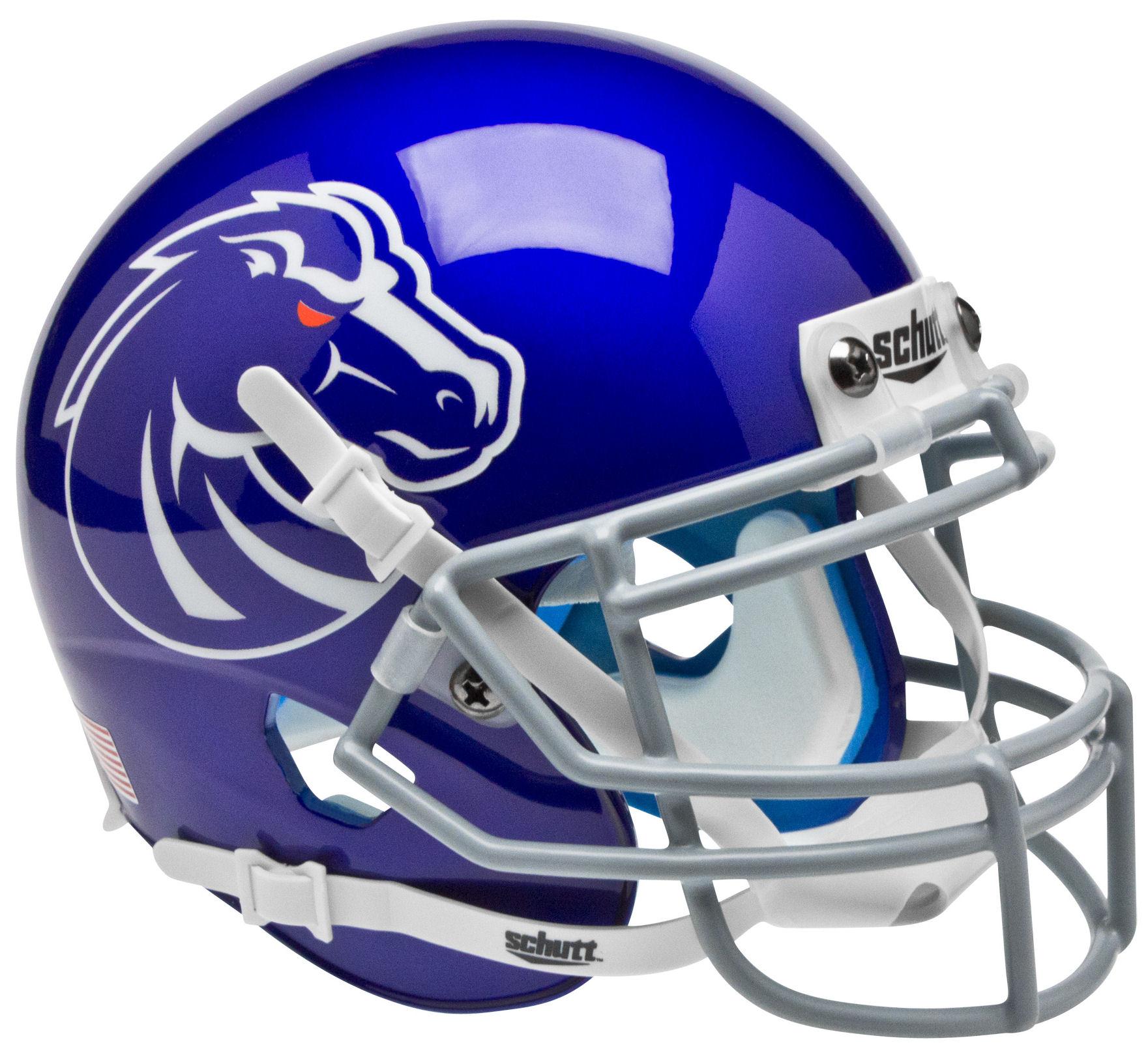 Boise State Broncos Mini Xp Authentic Helmet Schutt Mini Football Helmet Football Helmets Mini Footballs