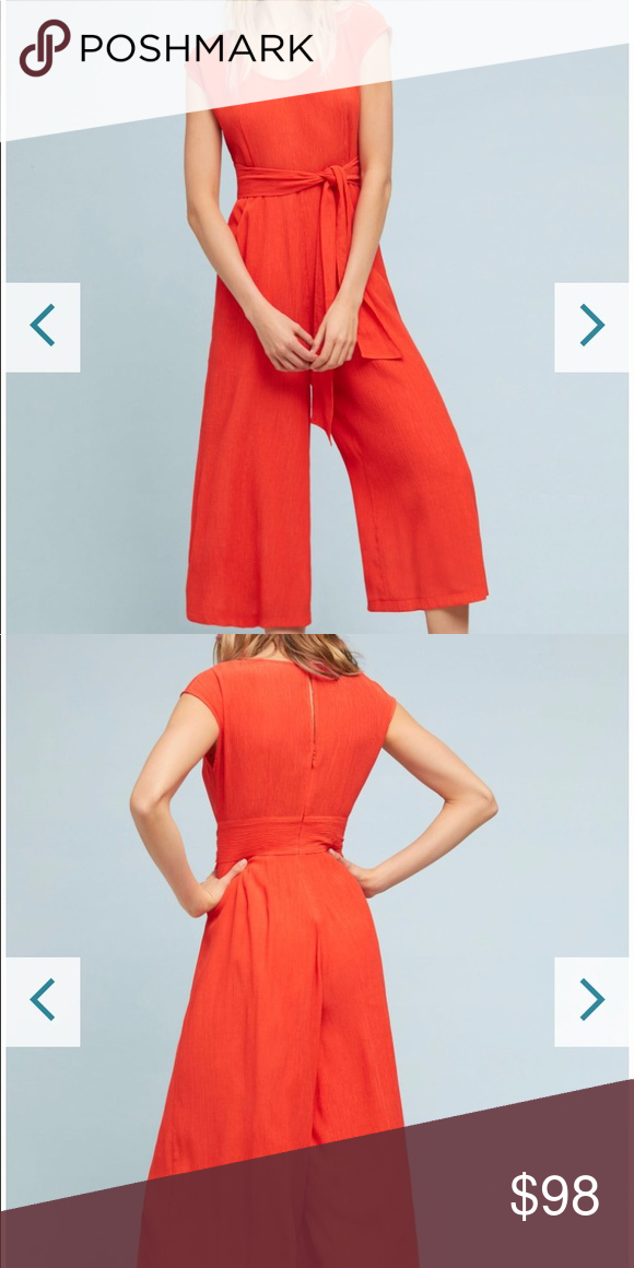 308be5e433f Anthropologie Abbey Jumpsuit Spring Summer 2018 Current  Top Rated  Cropped  Capped Sleeve Abbey