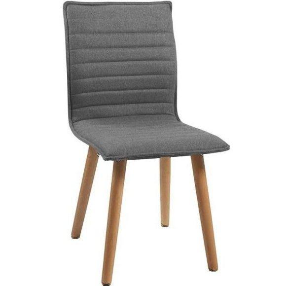 STUHL in Holz, Textil Eichefarben, Hellgrau - Stühle - Esszimmer - küchen dänisches bettenlager